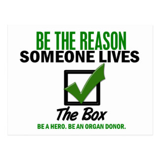 Check The Box Be An Organ Donor 4 Post Cards