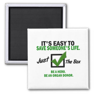 Check The Box Be An Organ Donor 5 Magnet