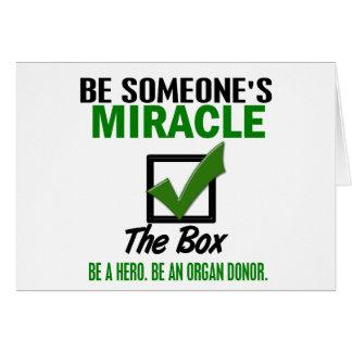 Check The Box Be An Organ Donor 6 Greeting Card