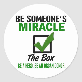 Check The Box Be An Organ Donor 6 Classic Round Sticker