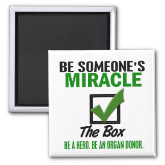 Check The Box Be An Organ Donor 6 Refrigerator Magnet