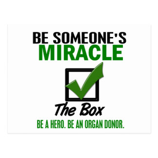 Check The Box Be An Organ Donor 6 Post Cards