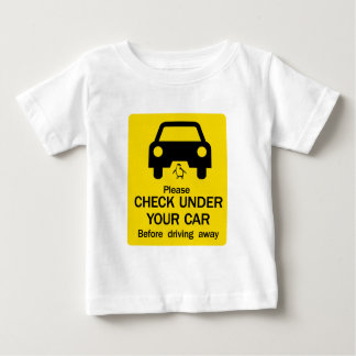 Check Under Car Sign, Australia Baby T-Shirt