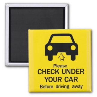 Check Under Car Sign, Australia Magnet