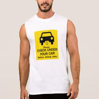 Check Under Car Sign, Australia Sleeveless Tees