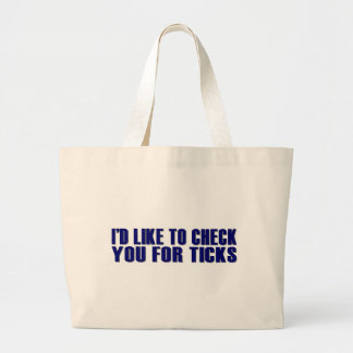 Check You For Ticks Canvas Bag