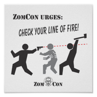 Check Your Line of Fire! Poster