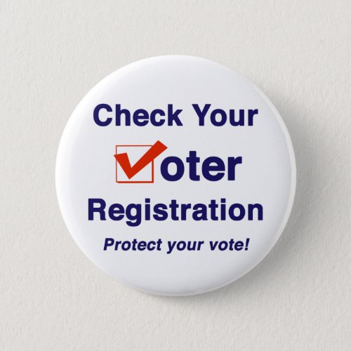 Check Your Voter Registration 2020 Election Button