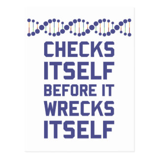Check Yourself Before You Wreck Your DNA Genetics Postcard