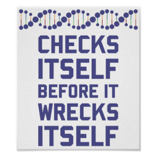 Check Yourself Before You Wreck Your Dna Genetics Poster at Zazzle