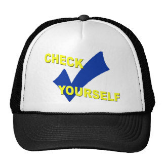 Check yourself trucker hat