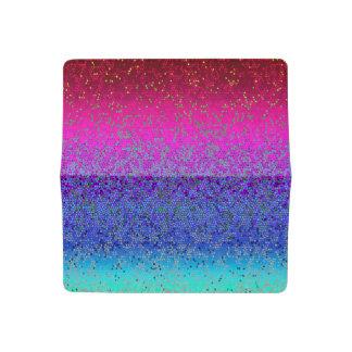 Checkbook Cover Glitter Star Dust