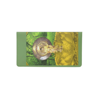 Checkbook cover with sacred squirrel