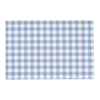 Checked Blue Gingham Placemat