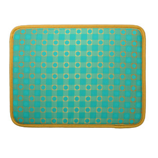 checked & dots pattern MacBook pro sleeve
