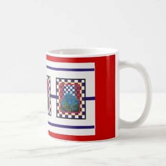 checked floral mugs #1