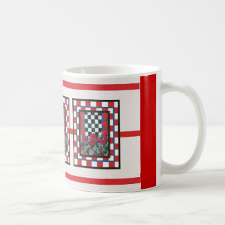 checked floral mugs #2