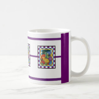 checked floral mugs #3