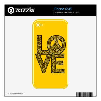 Checked LOVE=Peace iPhone 4 Skin