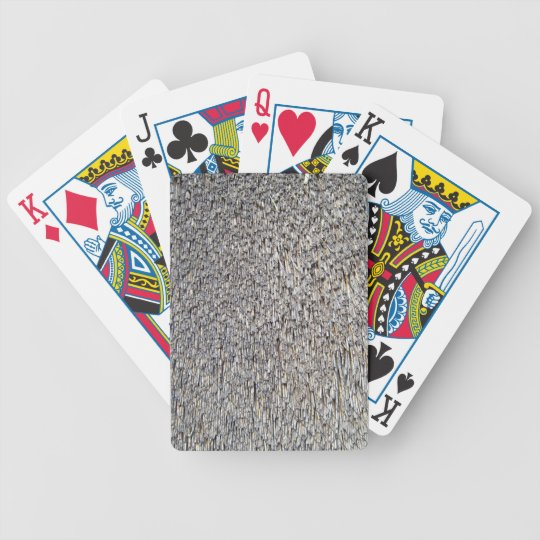 Checked Pattern Of Roof-Top Detail Bicycle Playing Cards