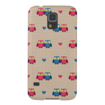 Checked pattern with love owls case for galaxy s5