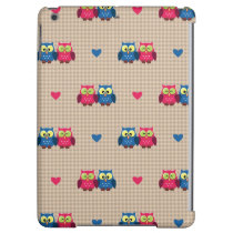 Checked pattern with love owls case for iPad air