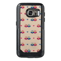 Checked pattern with love owls OtterBox samsung galaxy s7 case