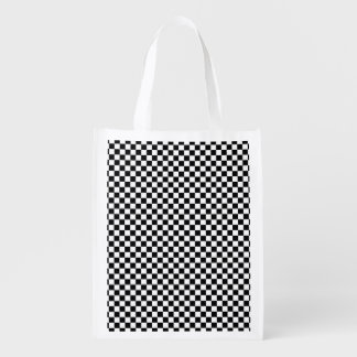 Checked pattern grocery bags