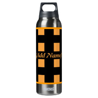 Checker and Floral Personalized 16 Oz Insulated SIGG Thermos Water Bottle