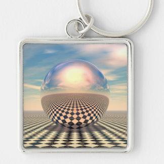 Checker Ball Keychain