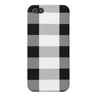Checker Black and White 4 4S  iPhone SE/5/5s Cover