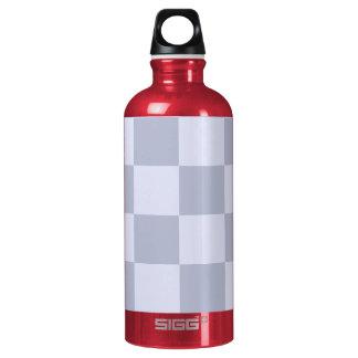 Checker Board Aluminum Water Bottle