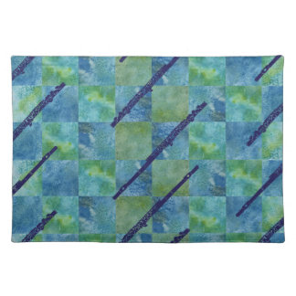 Checker Board Flutes Place Mats