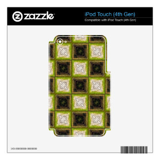Checker Board Pattern Skin For iPod Touch 4G