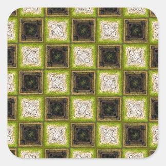 Checker Board Pattern Square Sticker