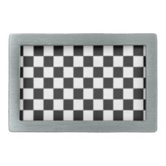 Checker Board Rectangular Belt Buckle