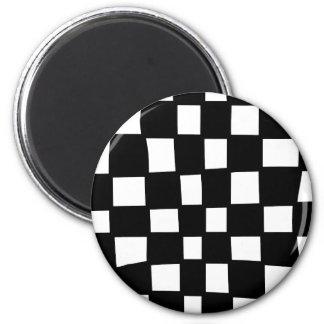 Checker board refrigerator magnet