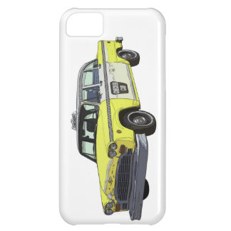 Checker Cab Taxi Classic Car Illustration iPhone 5C Cover