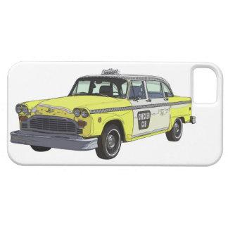 Checker Cab Taxi Classic Car Illustration iPhone SE/5/5s Case