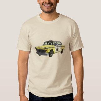 Checker Cab Taxi Classic Car Illustration Shirt
