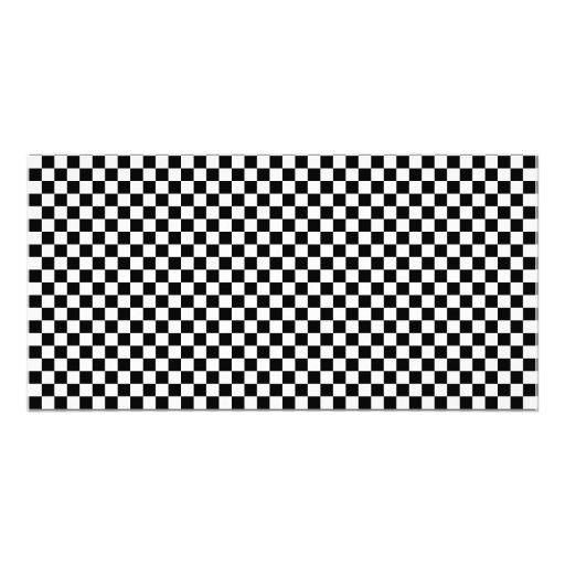 Checker Chess Board Custom Photo Card