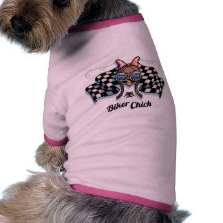 Checker Chick III Dog Tee