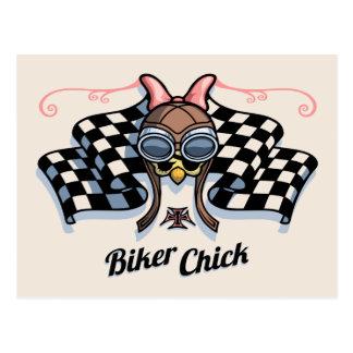 Checker Chick III Postcard