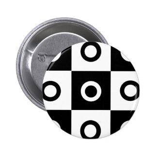Checker Circles Pinback Button