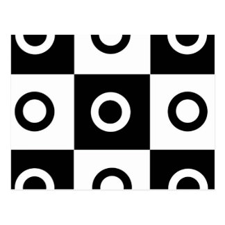 Checker Circles Postcard