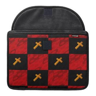 Checker Cross Macbook Pro sleeve
