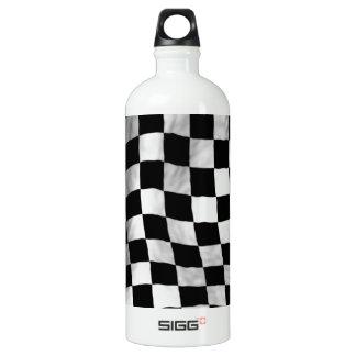 Checker Flag Aluminum Water Bottle
