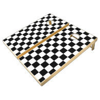 Checker Flag Cornhole Set