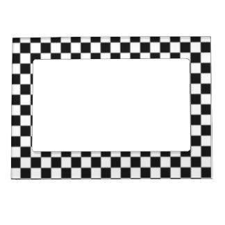 Checker Flag Magnetic Photo Frame