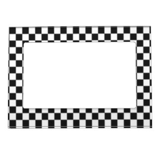 Checker Flag Magnetic Picture Frame